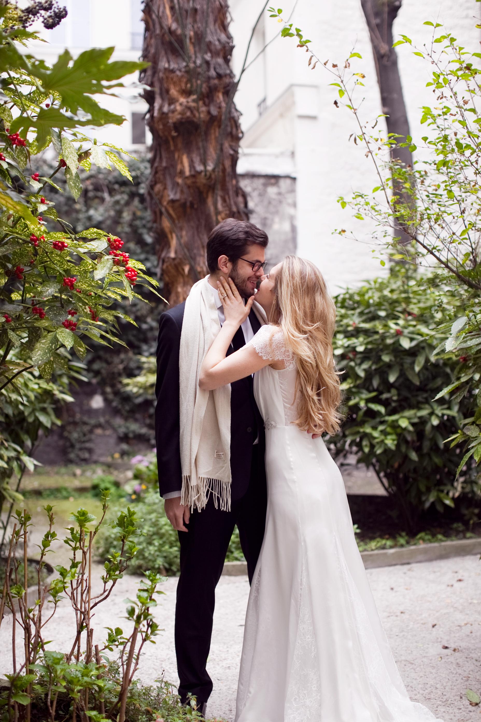 elope in paris garden wedding